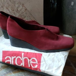 Arche Slip On Wedges size 9